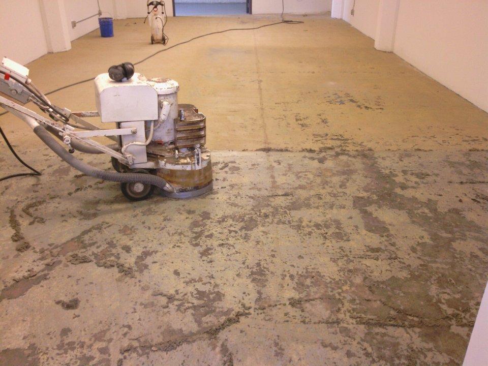 Carpet Glue Removing
